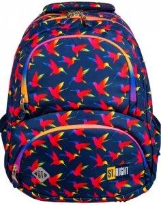Plecak St.Right Młodzieżowy Szkolny Rainbow Birds [BP7]