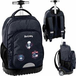 Plecak na Kółkach Duży UFO Młodzieżowy Szkolny Czarny [PPUF20-1231]