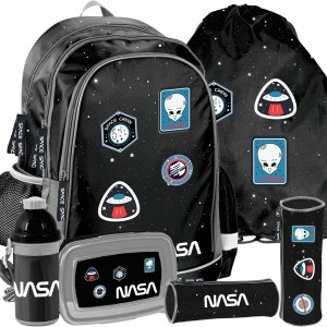 Plecak Chłopięcy Szkolny Nasa z Naszywkami Ufo [PP20NS-081]