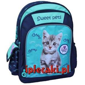Plecak Szkolny z Kotkiem Kotem Kot Kotki dla Dziewczyny [605489]