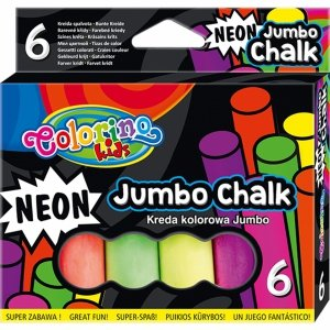 Neonowa Kreda Chodnikowa Jumbo Kolorowa Colorino Gruba [92081PTR]