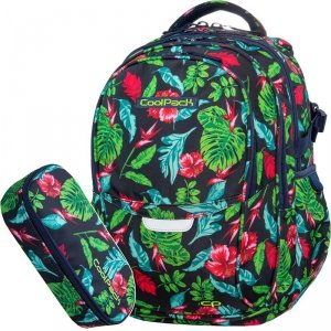 Plecak Młodzieżowy CoolPack CP w Kwiaty Szkolny Piórnik [B02016]