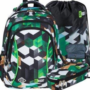 St.Right Plecak Młodzieżowy Gra Gry Minecraft [BP26 GREEN 3D BLOCKS]
