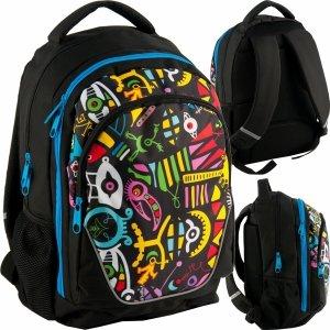 Plecak Młodzieżowy Szkolny 3 komorowy Modowy Sprężynki [BDD-367]