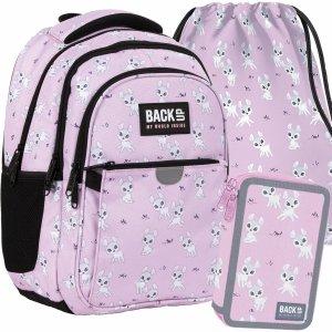 Szkolny Plecak Sarenki dla Dziewczynek Młodzieżowy Komplet 3 ele. [PLB4P25]