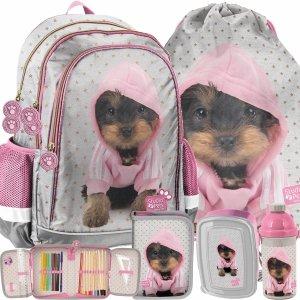 Plecak dla Dziewczynek Piesek York Paso do Szkoły na Zajęcia [PTJ-081]