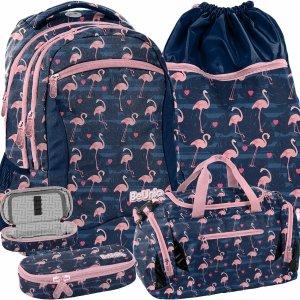Młodzieżowy Szkolny plecak dla Uczennicy Różowe Flamingi [PPNG20-2808]