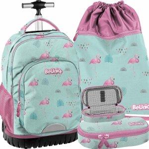 Duży Plecak z Kółkami Flamingi Młodzieżowy Szkolny [PPLF19-1231]