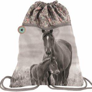 Duży Worek w Konie dla Dziewczyny na Obuwie Buty Kapcie 2 Komorowy [PP20KO-713]