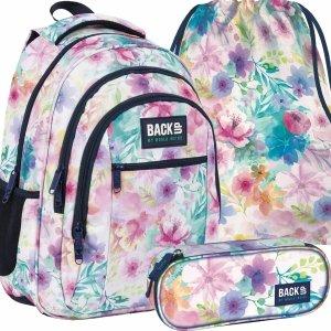 Plecak Szkolny w Kwiaty Młodzieżowy Dziewczęcy [PLB4O18]
