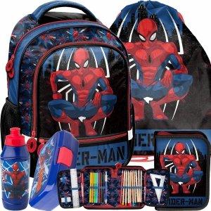 Komplet 5w1 Spider Man Plecak Szkolny do 1 klasy Paso [SPY-260]