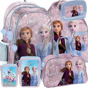 Plecak dla Dziewczyny Kraina Lodu Szkolny Mega Zestaw [DOE-081]