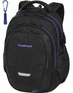 Plecak CoolPack Cp Młodzieżowy Szkolny Topography Blue [92722CP]
