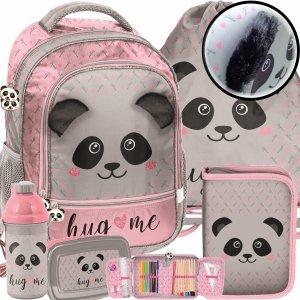 Modowy Plecak Szkolny z Uszami Dziewczęcy Miś Panda [PP20PA-260]