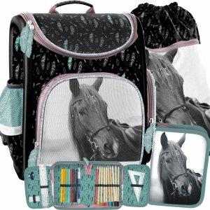 Konie Tornister Szkolny dla Dziewczynek Paso Ciemny [PP21KE-524]