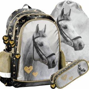 Plecak Szkolny Siwy Koń dla Dziewczyny do Szkoły [PP20H-081]