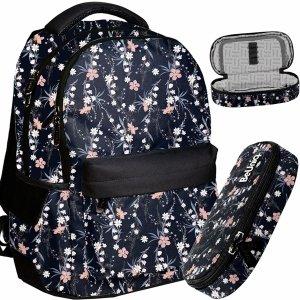 Plecak Vintage w Kwiatki Młodzieżowy dla Dziewczyny BeUniq [PPRO20-2705]