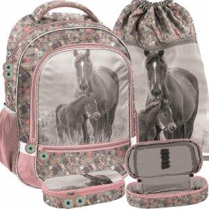 Szkolne Plecaki Dziewczęce Koń Konie z Końmi [PP20KO-260]