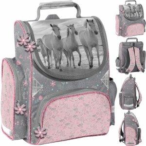Szkolny Tornister dla Dziewczynki Konie do 1 klasy [PP21HO-525]