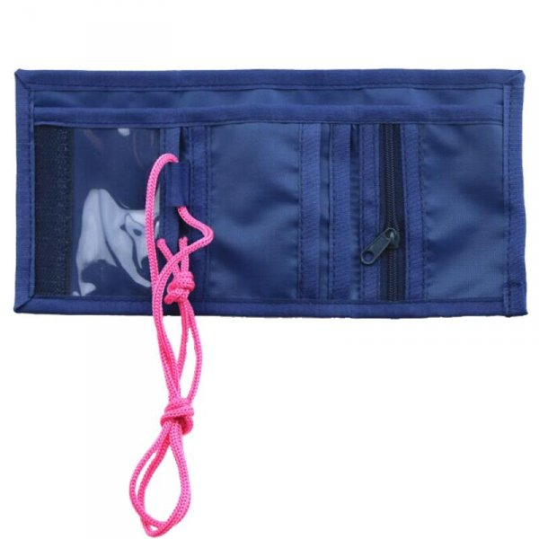 portfel dziecięcy niebieski różowy