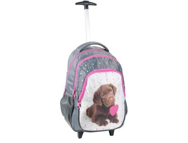 Plecak na Kółkach Pies Piesek Labrador Szkolny