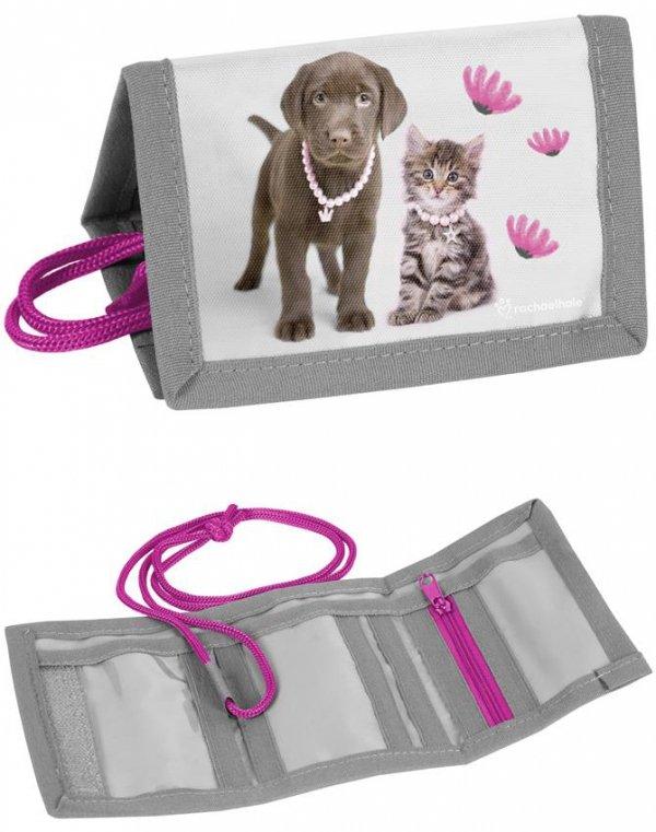 Portfel dla Dziewczynki Portfelik Kot Pies [RLA-002]
