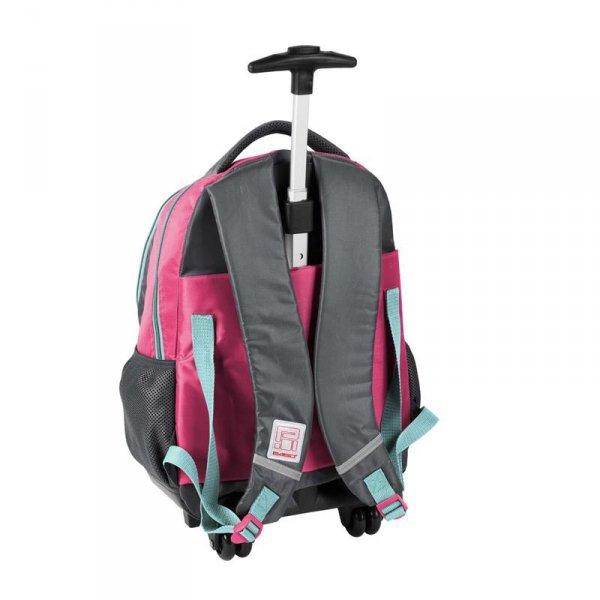 Plecak na Kółkach z Pieskiem w Muszce Szkolny dla Dziewczyny PEM-997