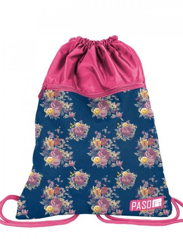 Worek jak Plecak Młodzieżowy Szkolny Kwiaty [18-713UX]