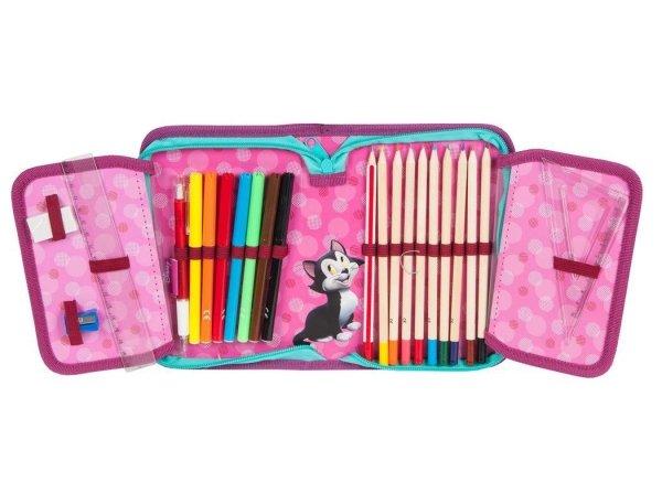Piórnik Myszka Minnie dla Dziewczyny z Wyposażeniem do Szkoły
