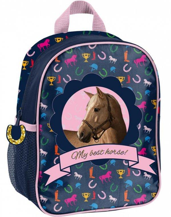 Plecak dla Przedszkolaka Plecaczek w Konie dla Dziewczynki [PPKM18-303]