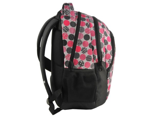Plecak Młodzieżowy Szkolny Kolorowe Koła dla Dziewczyn