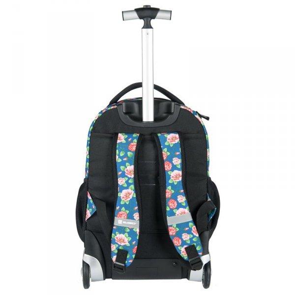 Plecak na Kółkach Szkolny Młodzieżowy w Kwiaty