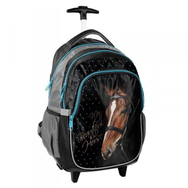 Plecak z Koniem na Kółkach Koń Szkolny dla Dziewczyny 17-997KO