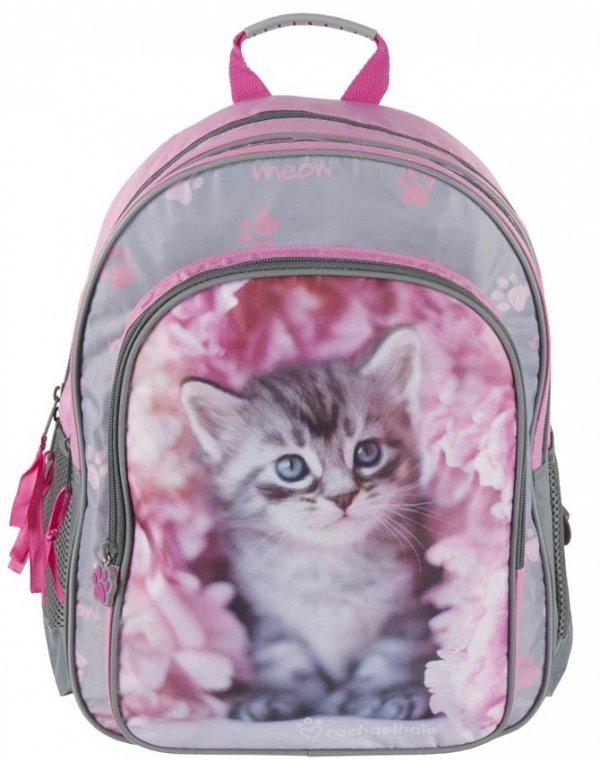 Plecak Szkolny z Kotem Kot Zestaw dla Dziewczynki [RAM-090]