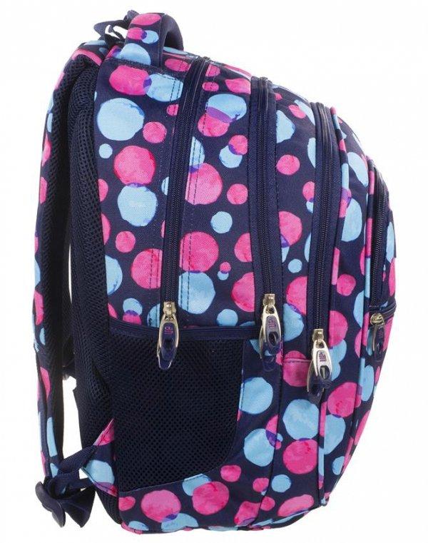 Plecak Młodzieżowy BackUP Szkolny Kolorowe Koła [PLB1B1]