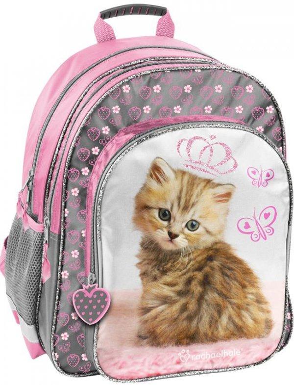 Plecak Szkolny z Kotkiem dla Dziewczyny [RHV-090]
