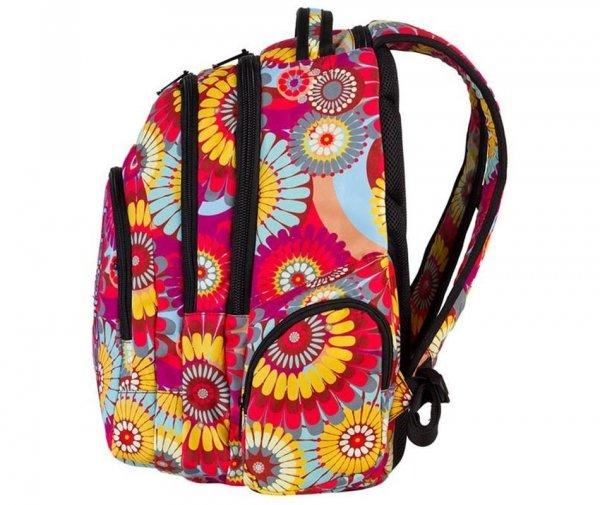 plecak coolpack cp czerwony w żółte kwiaty młodzieżowy szkolny