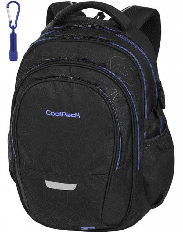 Plecak CoolPack Cp Młodzieżowy Szkolny Topography Blue [86001CP]