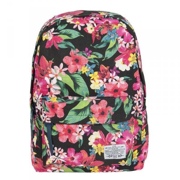 Plecak dla Dziewczyny Vintage Młodzieżowy Szkolny kolorowe Kwiaty 17-223C