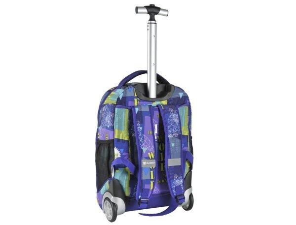 Plecak na Kółkach Młodzieżowy Szkolny Fioletowy