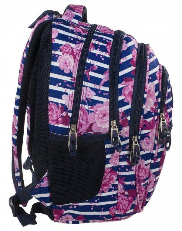 Plecak w Kwiaty Młodzieżowy BackUP Szkolny [PLB1B34]
