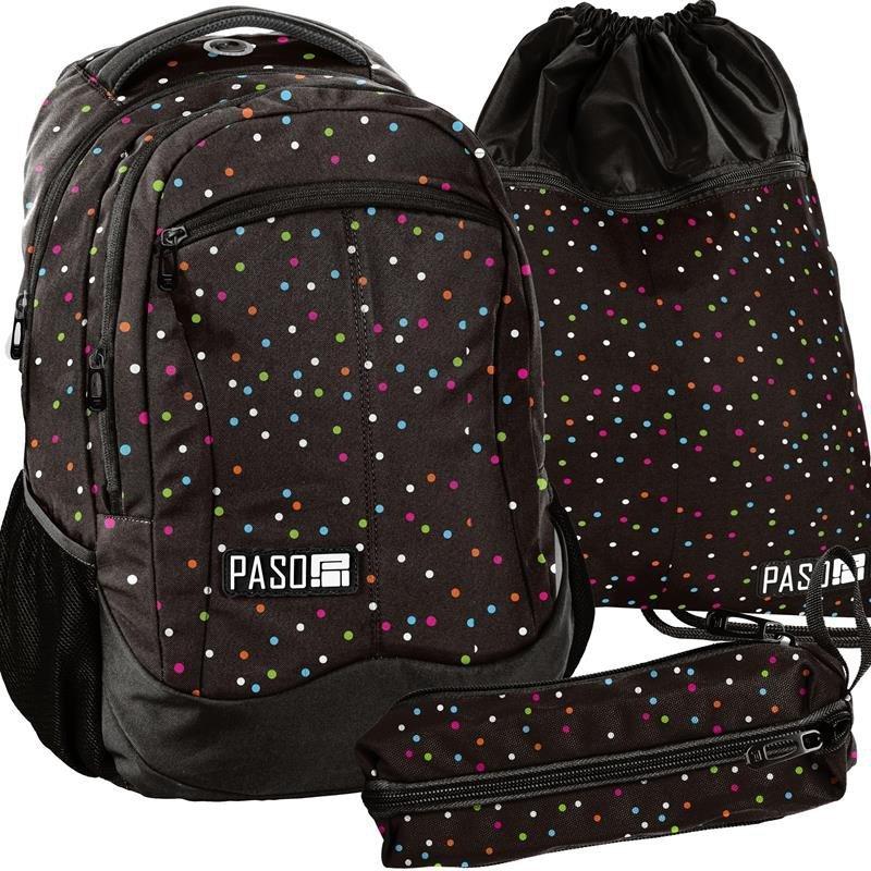 b7499b2a97026 Piękny Plecak Młodzieżowy Szkolny Komplet dla Dziewczyny [18-2808CD/16]
