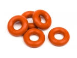 SILICONE O-RING P-3 (RED/5pcs) 6819