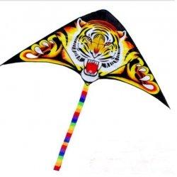 Duży latawiec Tygrys 75x150cm z linką -dla każdego