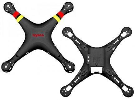 Syma X8C X8W - Obudowa czarna,  góra i dół