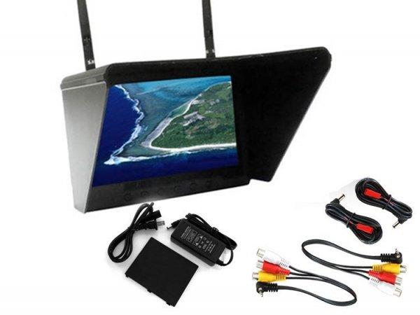 "POWYSTAWOWY Monitor Black Pearl LCD 7"" 1024x600 - Dwa Odbiorni"