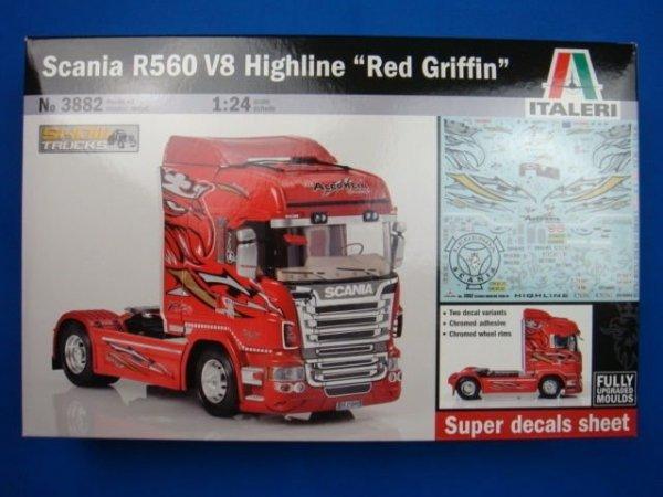 Italeri 3882 SCANIA R560 RED GRIFFIN