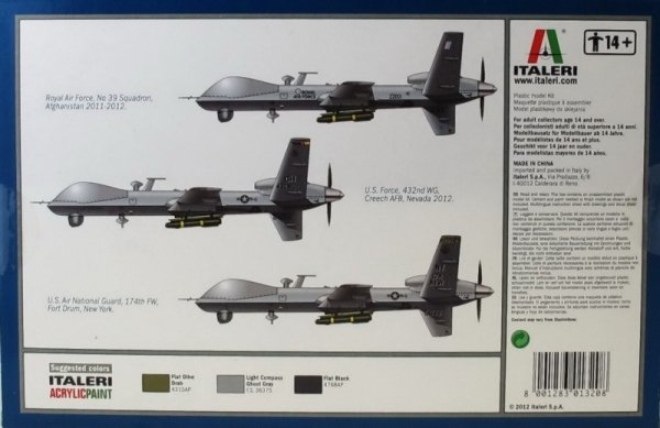 ITALERI 1320 Drone MQ-9 Reaper