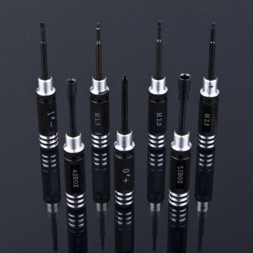 Zestaw uniwersalnych kluczy HEX 1.5 - 5.5mm czarne