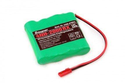 Akumulator 4,8V NiMH 2000 mAh płaski wtyk czerwony